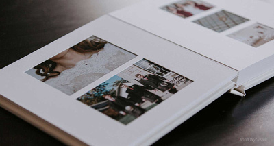 An example of a wedding album option as part of the Mellow Photography Wedding photography service.